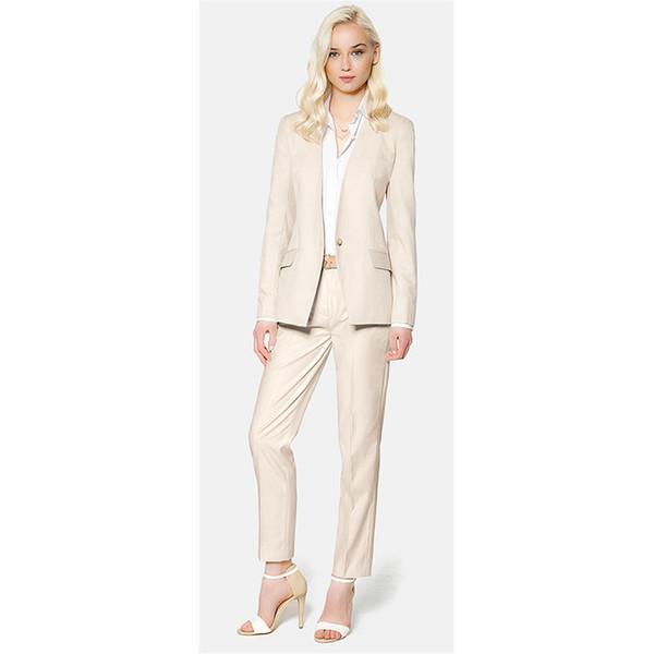 New Fashion Suits Ms Pants Formal Suit One Button Work Wear Custom Made Ladies Suit Ms office uniform designs women