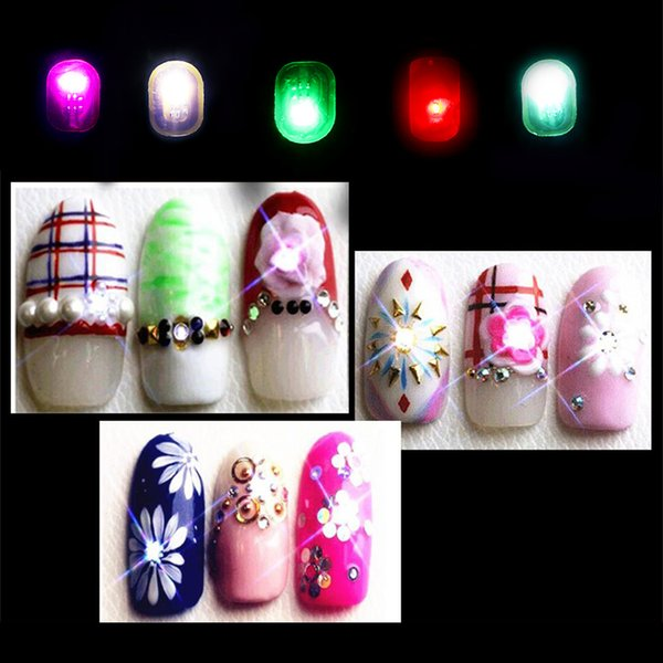 2018 New Women Diy Plastic Nfc Nail Art Tips Stickers Phone Led Light Flash  Party Fingernail Decals Makeup Nail Accessories Nail Design Stickers Nail