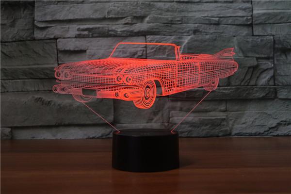 Chegada nova Amor Presente 3D Gradiente Night Light Touch Control Colorido Acrílico Luz de Energia Noite Luzes Da Tabela Da Lâmpada