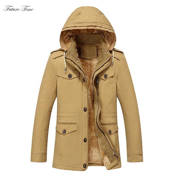 Uomo Parka Spessore Caldo Inverno Uomo Autunno Giacche e cappotti Colletto con cappuccio Collare Plus Size 6xl Moda Slim Outwear Lungo Parka C1582