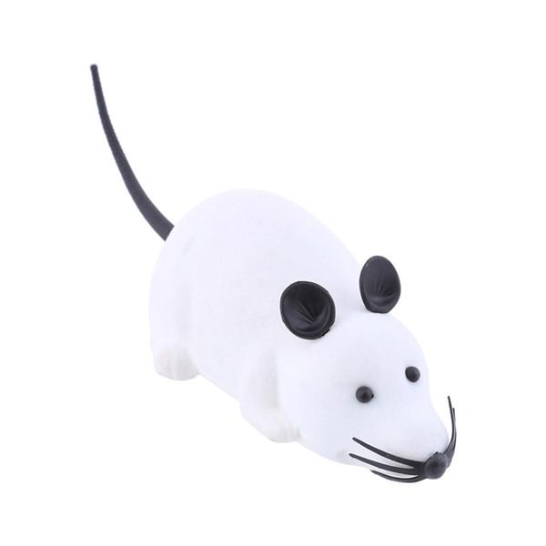 BIANCO RC divertente Telecomando ratto mouse giocattolo per gatti telecomando colori wireless per cane gatto
