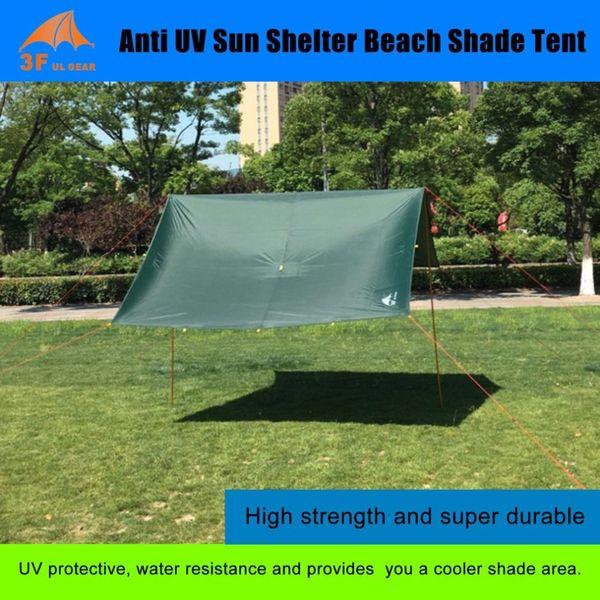 AOTU Anti UV Ultralight Sun Shade Shelter 210T Waterproof Taffeta Tarp Outdoor Camping Awning Canopy Beach Travel Sunshelter