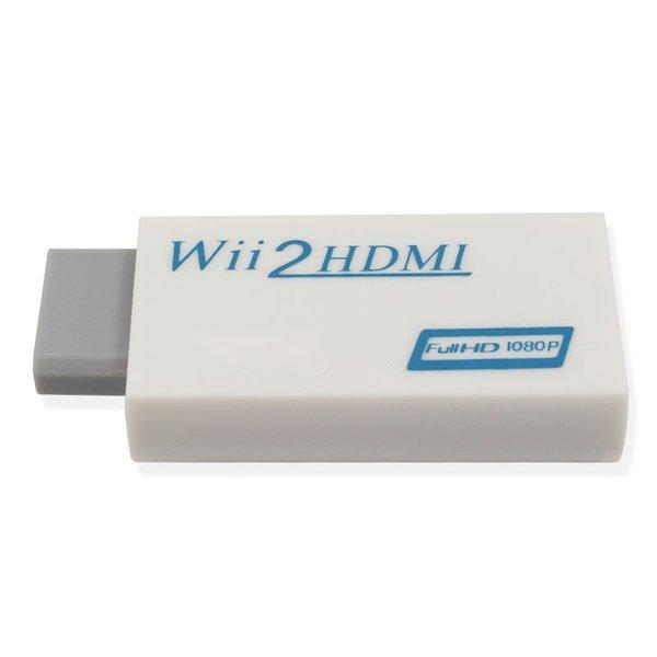 Weiß für Wii zu HDMI Wii2HDMI Adapter Konverter Full HD 1080P Ausgabe 3,5 mm Audio-Video-Ausgang