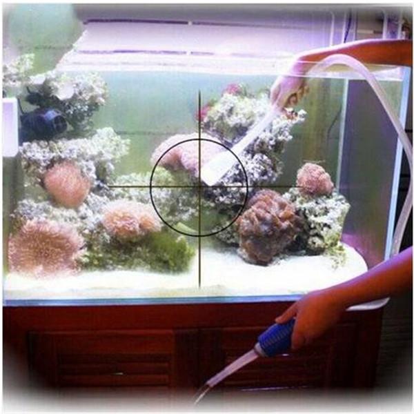 Free shipping Wholesales Aquarium Clean Vacuum Water Change Gravel Cleaner Fish Tank Siphon Pump