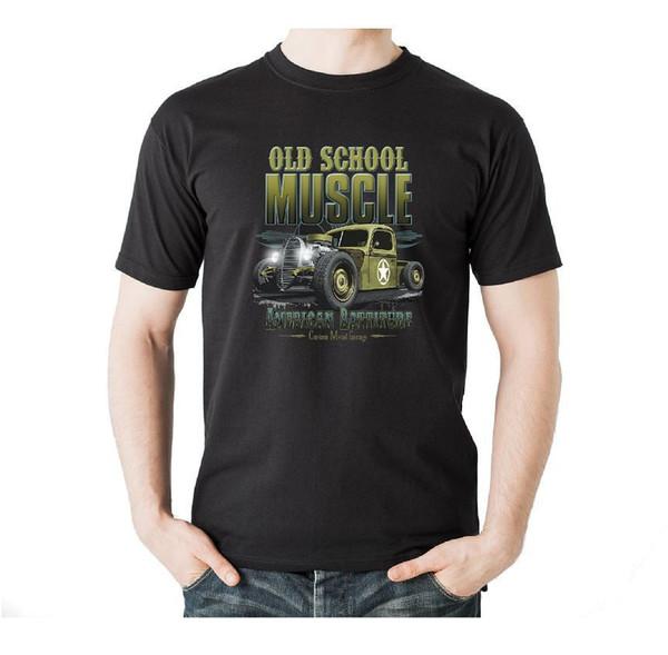 T-Shirt Sıcak Çubuk Outlaw V8 Rockabilly Dövme Pin up Rota 66 Motiv 87 Komik ücretsiz kargo Unisex
