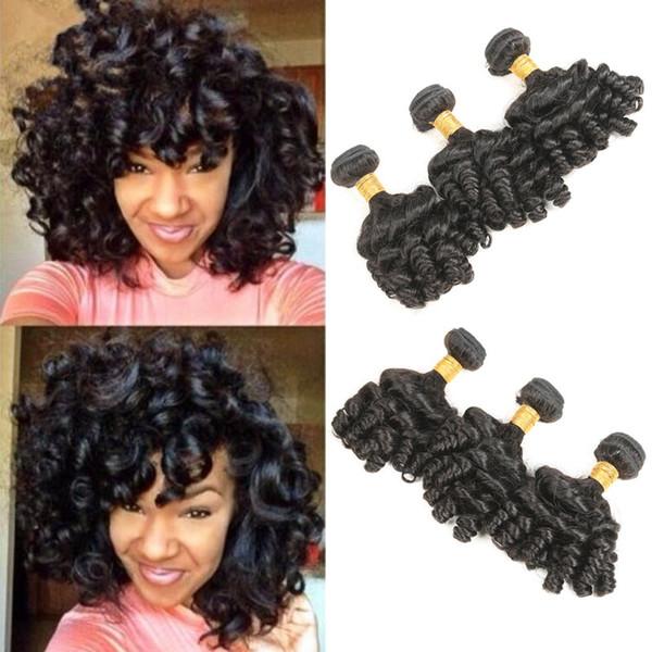 Virgin перуанский человеческих волос расширения пакет из 3 Пучков необработанных Funmi волос естественный цвет смешанная длина 12 дюймов 14 дюймов 16 дюймов Бесплатная доставка