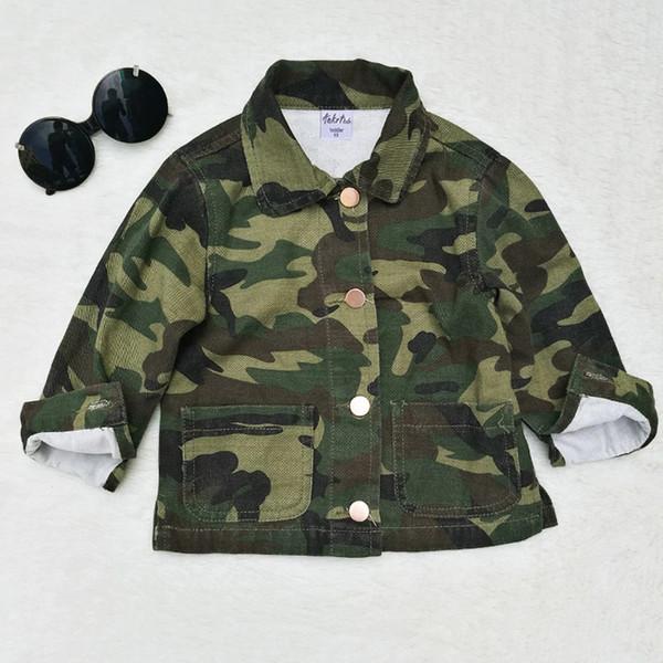 Baby Girls Boys Jacket Cardigan 2017 Fashion Spring Autumn Camouflage Coats Army Children's Windbreaker Outerwear