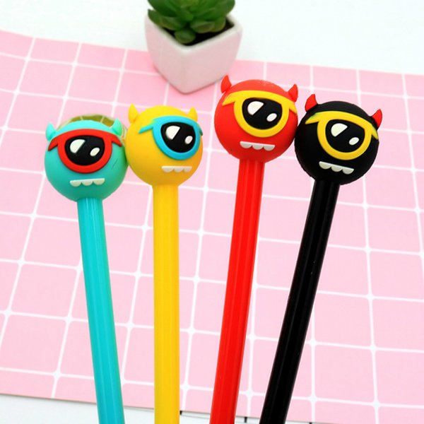 4pcs/lot Creative big eye Monster gel pen 0.5mm Black Ink Pen Gift Stationery office school supplies Cute Decorative writing