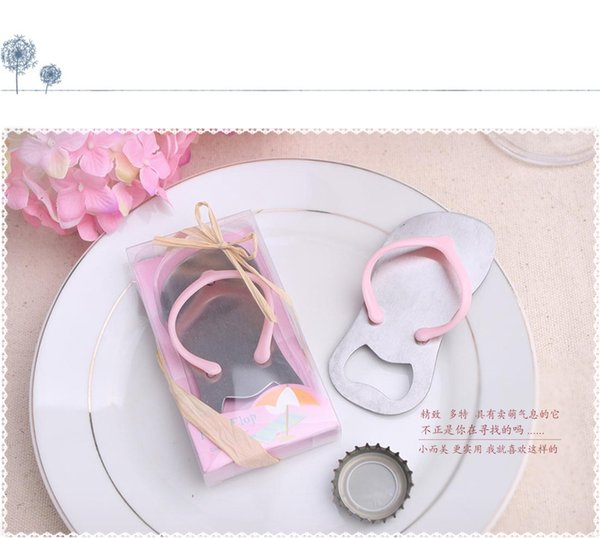 Free shipping 50pcs/lot Beach Wedding Gifts Pink Flip Flops slippers bottle opener Wholesale For wedding favors party favors