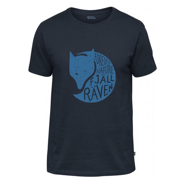 2018 высокое качество Марка мужчины футболка повседневная с коротким рукавом О-образным вырезом мода Fjallraven Forever природа футболка МОДА СТИЛЬ мужчины Tee