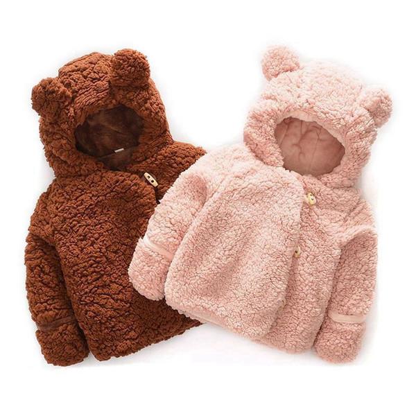 Baby Winter Jacket Infant Girls Clothes Newborn Warm Snowsuit Outerwear Hoodie Velvet Thick Parkas Toddler Kids Boys Snow Coat