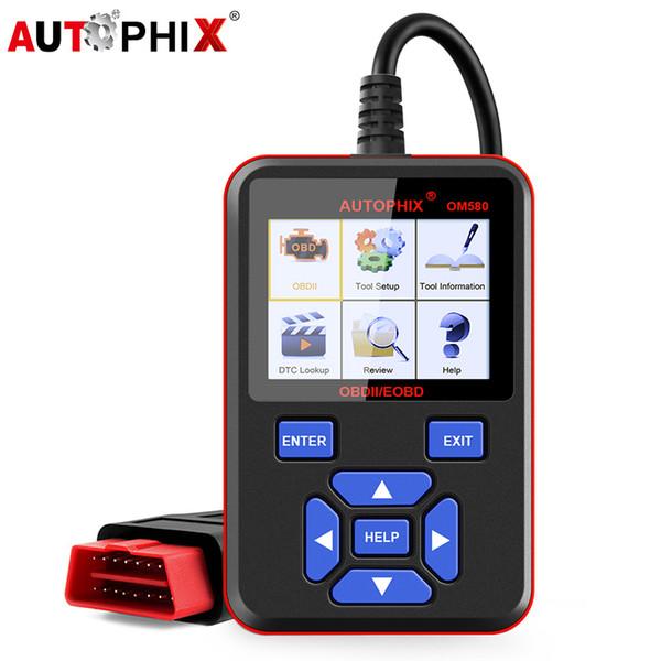 wholesale OM580 OBD2 Scanner Automotive Car Dignostic Tools OBD 2 Car ODB2 Russian Language for Auto Diagnostic Scan Tool ODB2