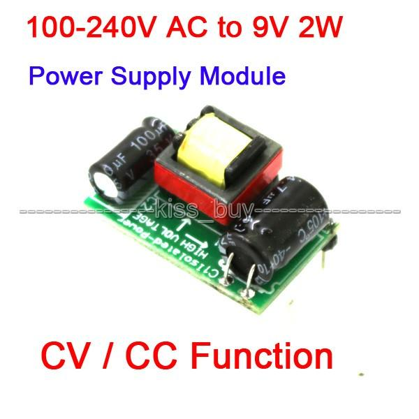Freeshipping 3pcs/lot AC Converter 100~240V/110V 220V to DC 9V 2W Isolated Switching Power Supply Module W CV/CC function Power Adapter