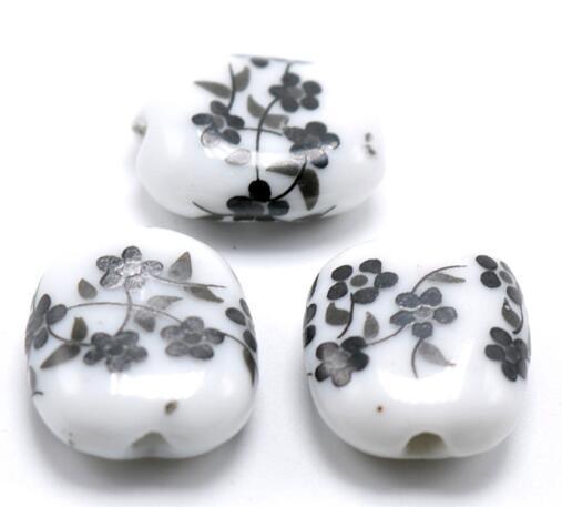 Dimensione del foro di 15x18mm 1.5mm, perline di porcellana, monili di perline sciolte di ceramica DIY che fanno trovare trasporto libero
