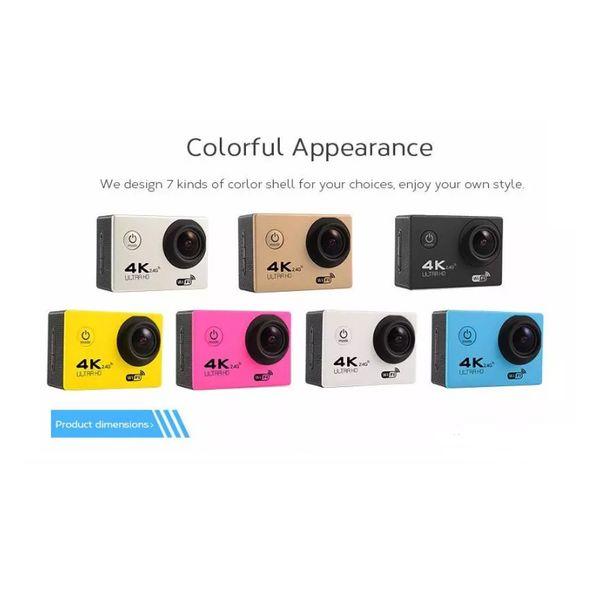 1 adet RF 2.4 Uzaktan Kumanda 4 K Spor DV H12R 30 M Su Geçirmez Eylem Kamera WIFI Kontrol 2.0 '' Ekran Spor Kamera ücretsiz kargo