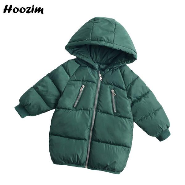 Großhandel Winter Lange Jacke Für Mädchen 2 3 4 5 7 8 Jahre Grün Kinder Mantel Schöne Baumwolle Parka Boy Herbst Warme Kapuzenjacke Kinder Kleidung