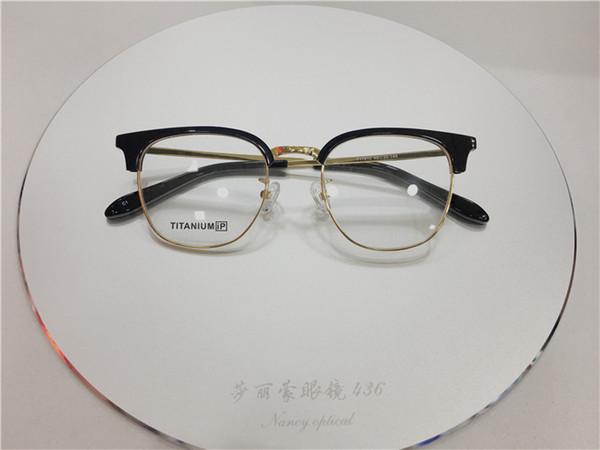 Good quality titanium half rimless Spectacle Frame eyeglasses frames for Men Women Myopia Brand Designer Vintage Glasses frame clear lens