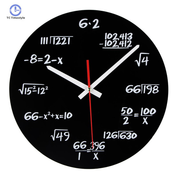 Acrylic Wall Clock Maths Equation Modern Design Novelty Art Unique Watch Home Decoration Accessorie Wall Clocks