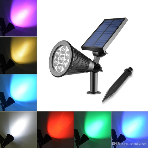 Solar Power LED Solar light Outdoor Lawn Solar lamp 7 Colors RGB Warm White Holiday lights courtyard decorative garden light Waterproof