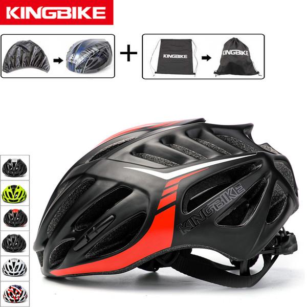 KINGBIKE Cycling Helmet Mountain Road 2018 New Men Women Ultralight Helmet Black Red EPS Sports Bicycle Bike Breathable Helmets