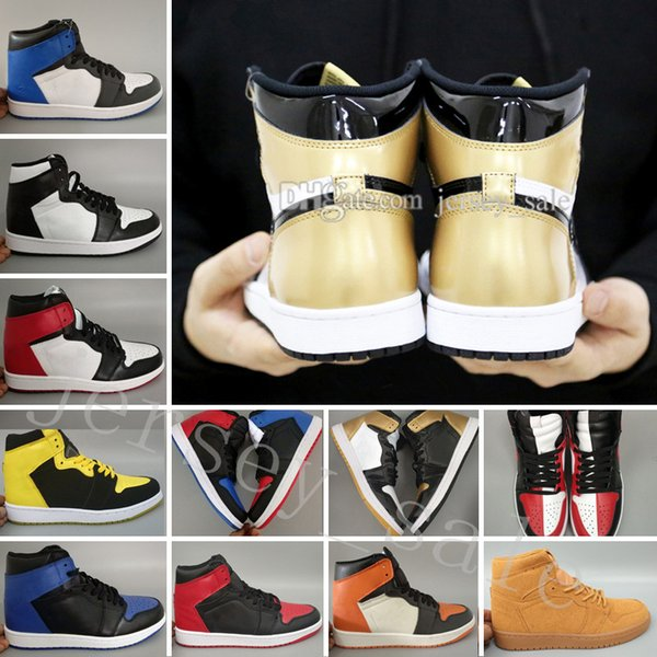 2018 new 1 Top 3 Men Basketball Shoes Bred Toe Chicago Banned Royal Blue Fragment Shattered Backboard ShadowBarons Metallic Shadow Sneakers