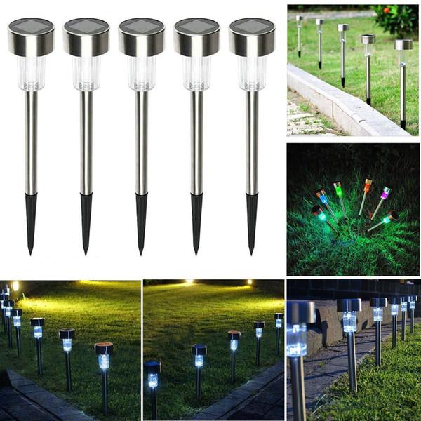 Confezione da 8 LED solari RICARICABILI DA GIARDINO POST Pathway LUCI PER ILLUMINAZIONE PER ESTERNO