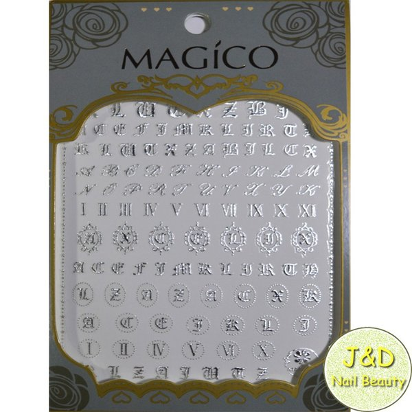 Free Shipping1sheet Gold Alphabet Nail Art Sticker Italic Character Decals  Roman Numbers Letters French Manicure Nail Decoration Wall Art Stickers