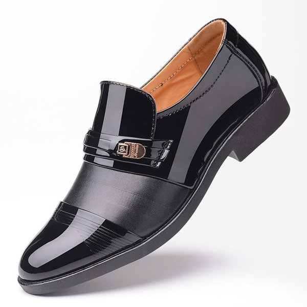 Mens Colorblocked Patent Leather Cap-toe Oxfords Dress Shoes Single Monk Strap Two Tone Slip On Work Shoes