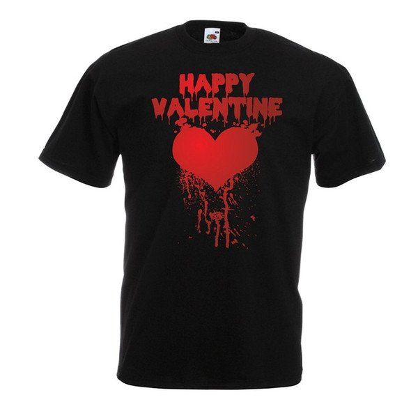 "Tops Tee ShirtsCrew Neck Short Sleeve Best Friend Mens T shirts for men ""Happy Valentine day I love you gifts"" love quotes heart"
