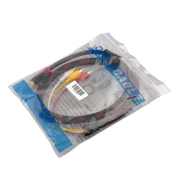 JRGK HDMI Kabel HDMI zu 3RCA Kabel Stecker 19 / M / p - RCA für HD TV LCD Laptop PS3 Projektor Computer 1.5m