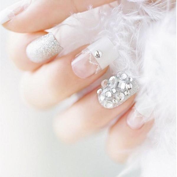 Накладные ногти французский маникюр цена