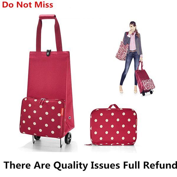 New Folding Shopping Bag Shopping Cart on Wheels Bags Small Pull Cart Women Buy Vegetables Bag Organizer Tug Package