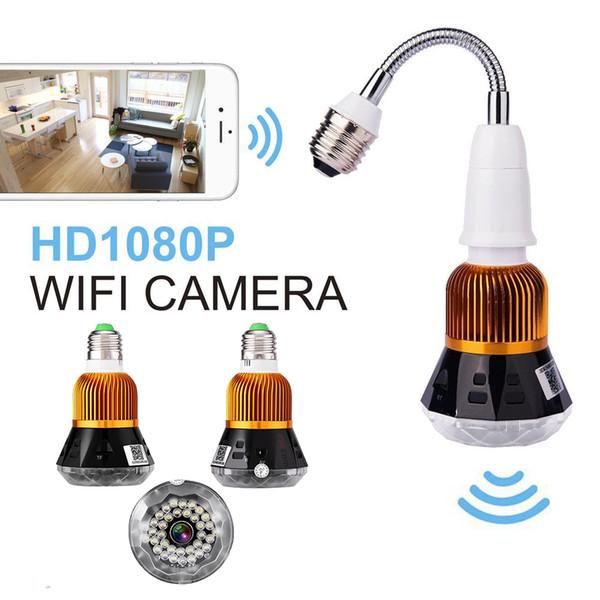 JCWHCAM HD 1080P WIFI bulbo de la cámara IP Luz Supervisión en tiempo real Inicio de Seguridad de la cámara de WiFi 1080P visión nocturna de seguridad CCTV