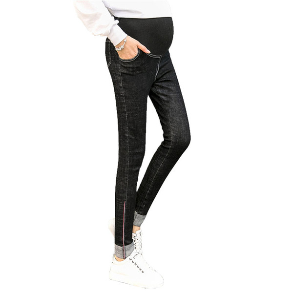63fbf52d5f907 Spring Maternity Jeans For Pregnant Women Wear Nursing Clothes Maternity  Pants Pregnancy Leggings Gravidas Trousers Clothing