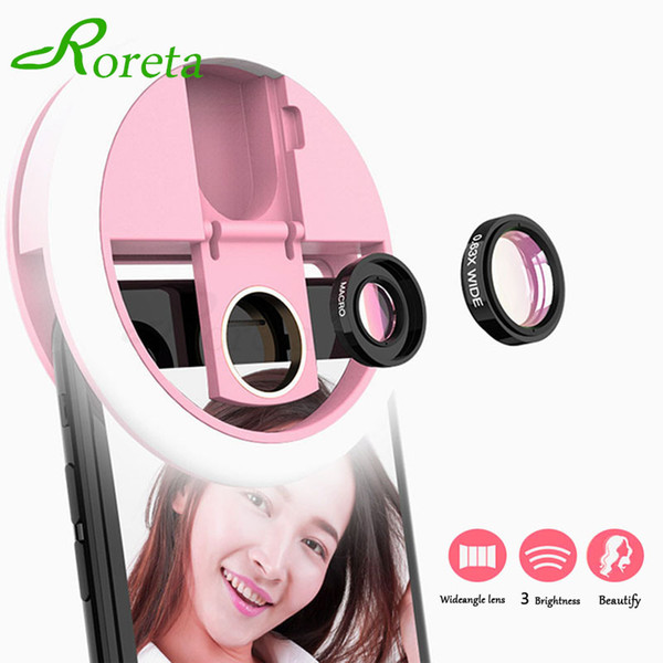 Roreta Newest LED Selfie Flash Camera Phone Ring Light Photography Enhancing Photography Portable Lighting Lens Flash For iPhone