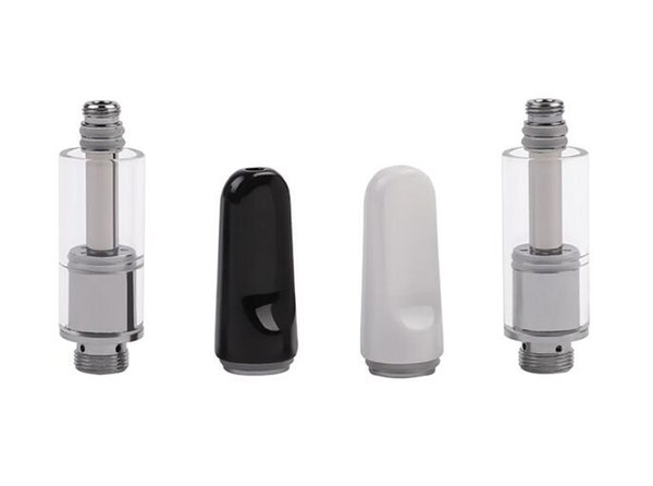 professional thick oil glass cartridge ceramic coil tank buddy vape mini tank 510 thread atomizer dual coil heating element