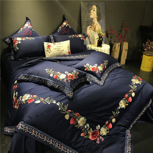 Großhandel Königin König Größe Edle Luxus ägyptische Baumwolle