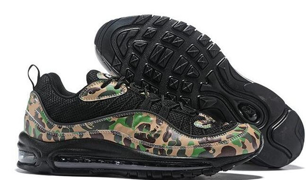 98 camo Sean Wotherspoon man Running Shoes with box best quality men Athletic sports 98 trainer Sneakers free shipping