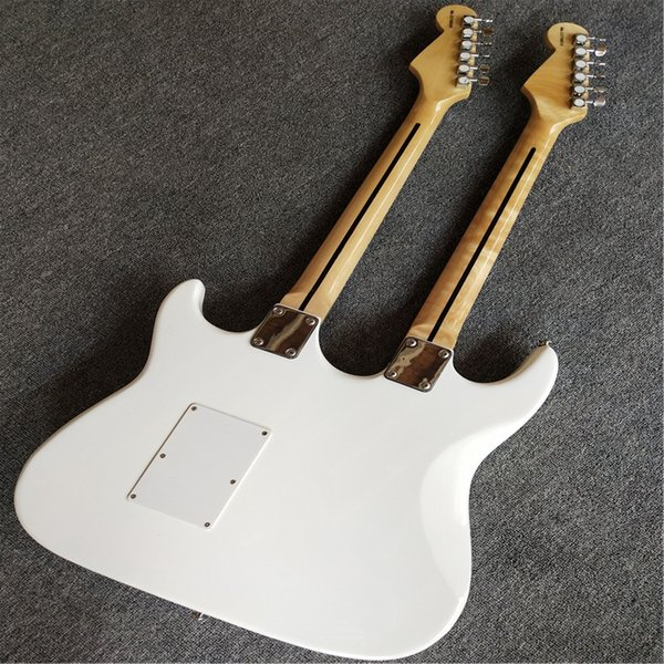 Custom shop New high-quality custom white double necks electric guitar ,12/6 string electric guitar ,Rosewood fingerboard. free shipping