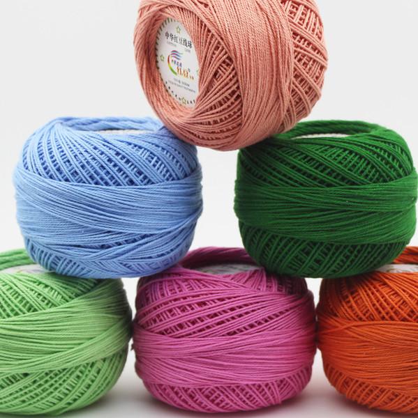 top popular 50g pcs 3# Lace Yarn 100% Cotton Yarn for Crocheting Fine Combed Yarn Using 2.5mm Crochet free ship 2021
