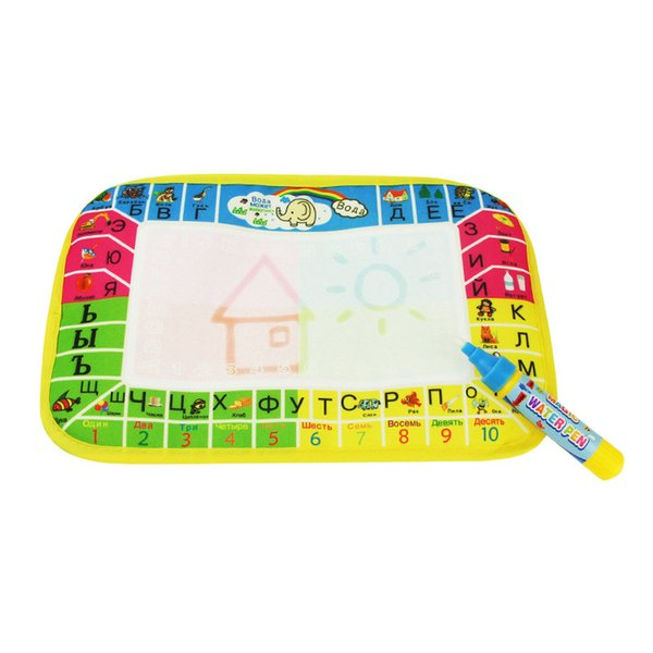 29X19cm Mini Size Drawing Board Water Doodle Mat Russian Water Drawing Board with 1pcs Magic Pen Cultivate Child's Creativitity
