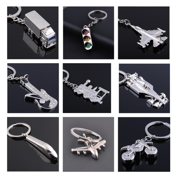 3D World Cup Metal Gift Keychain Motorcycle Aircraft Train Key Ring Jewelry Car Key Chain Game Holder Souvenir chaveiro para