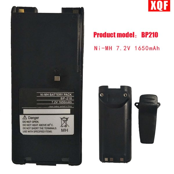 Bateria de XQF Ni-MH 7.2V 1650mAh para ICOM Rádio IC-F11 F11S F4GS BP-210N