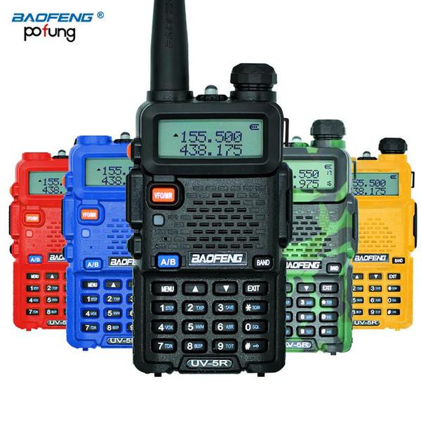 BaoFeng UV-5R Walkie Talkie Profissional CB Rádio Baofeng UV5R Transceptor 128CH 5 W VHFUHF Handheld UV 5R Para A Rádio caça