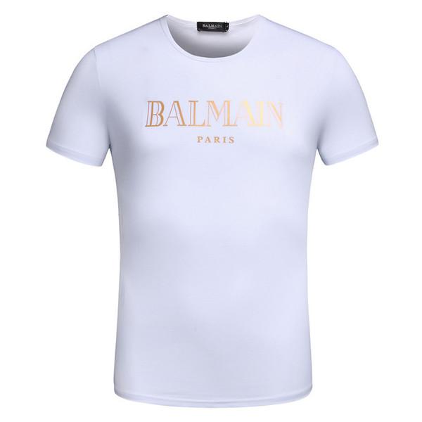 Venta al por mayor camiseta de diseñador para hombre de impresión de letra marca blanco azul negro verano estilo camiseta de manga corta superior informal famoso M-3XL