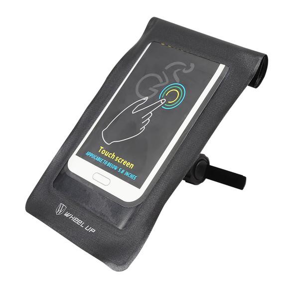 WHEELUP Borsone per bicicletta Touchscreen Ciclismo manubrio Bike Front Pouch Adatto per telefoni cellulari con dimensioni comprese tra 5,8 pollici