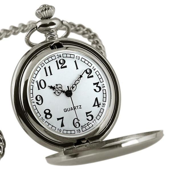Orologio Sanwood Retro Vintage Uomo Steampunk Smooth Surface Pendant Chain Tasca classica per orologio da taschino
