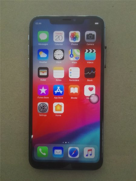 Smartphone XS MAX 6.5inch 1GB+16GB Quad Core Face ID Smartphones Phone Unlocked Phone Face recognition Show Fake 4GB+128GB DHL Free