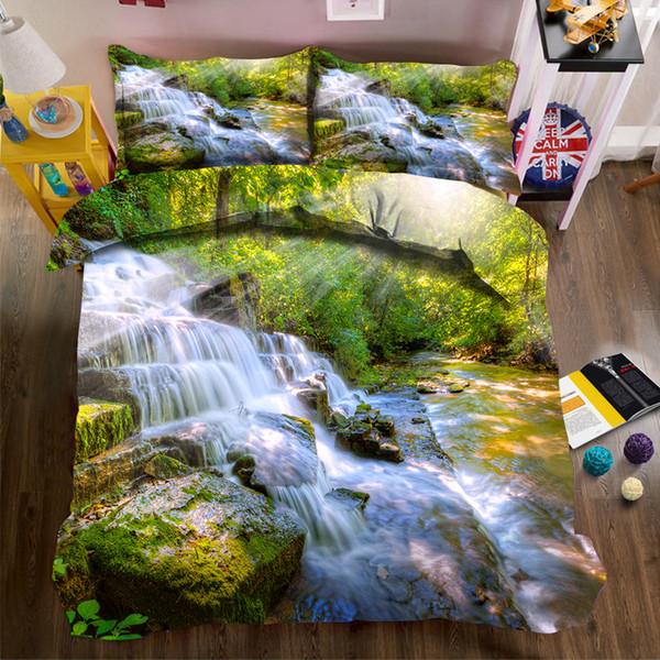 Paesaggio Architettura Pittura ad olio stampa biancheria da letto serie Nordic foto 3d trapunta biancheria da letto