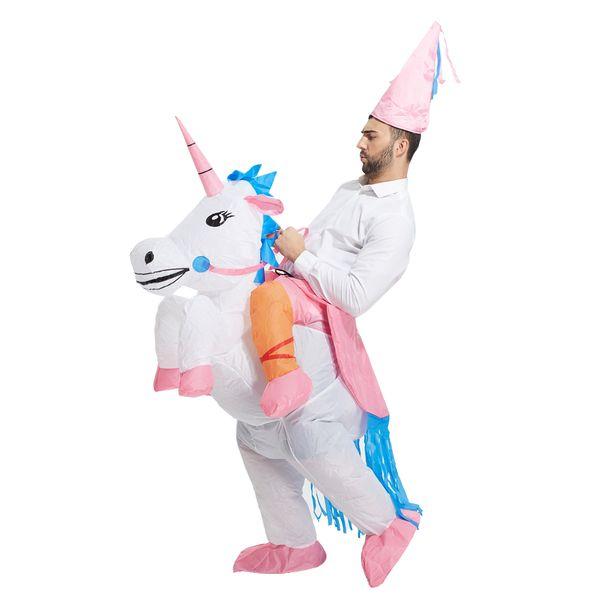 Горячий взрослый карнавал Хэллоуин костюмы надувные костюмы ездить на небо лошадь воздух взорвать одежду смешные косплей костюм